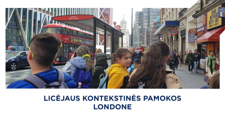 Licėjaus kontekstinės pamokos londone